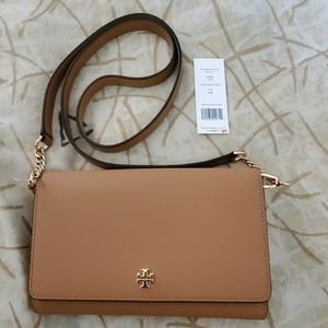 NWT Tory Burch Emerson Chain Wallet MSRP $289